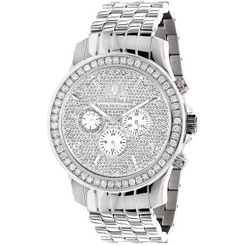 Luxurman Watches Mens Diamond Watch 3ct