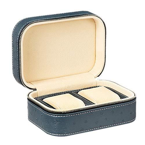watch box Caja de Almacenamiento de Reloj portátil Caja de presentación de Reloj de Centro Comercial Cuero de Microfibra Antiarañazos Puede Poner Diferentes Relojes