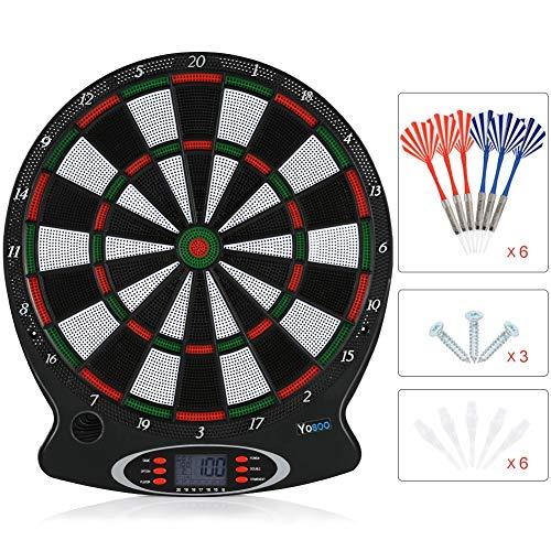 Elektronische Dartscheibe 1pc Professionelle elektronische hängende Dartscheibe LCD Scoring Indicator Dart Spiel mit 6pc Darts