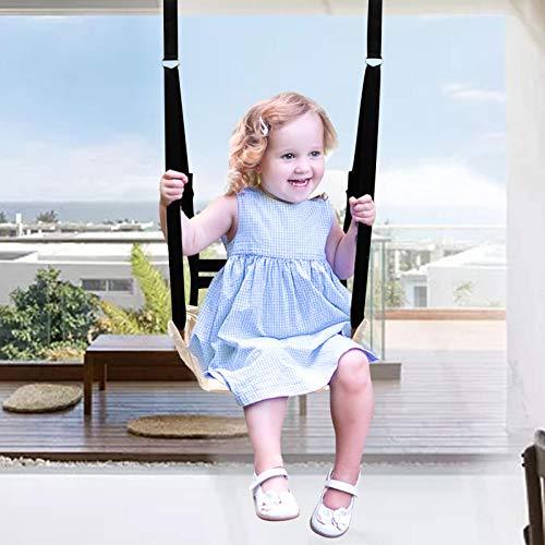 aniceday Juego de asiento de lona para bebé, columpio para niños pequeños, columpios colgantes de lona resistente, silla de bebé, asiento seguro y cómodo, decoración de guardería