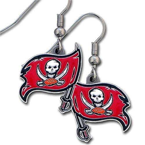 NFL Siskiyou Sports Womens Tampa Bay Buccaneers Dangle Earrings One Size Team Color