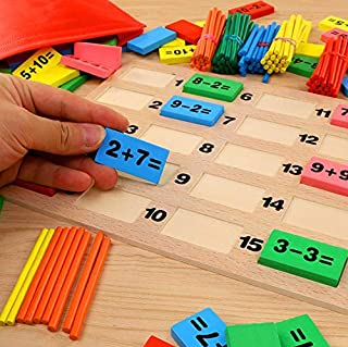 Counting Toys - Domino, Wooden Mathematical Calculation Game Toy.