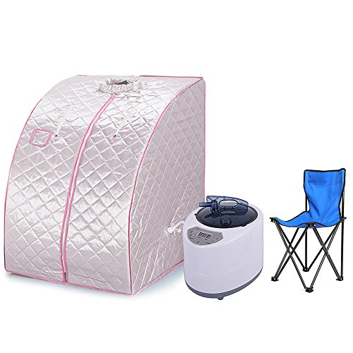 Flyelf Sauna Box,Portable Steam Sauna for Personal Spa Body Heater...