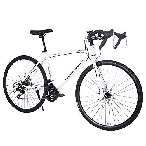 Lightweight high Carbon Steel Road Bike, Begasso Shimanos Aluminum Full Suspension Road...