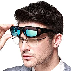commercial DUCO Unisex Wrap Fit Overglass Polarized Sunglasses 8953 clip on sunglasses