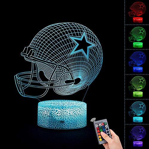3D night light bedside lamp 7 colors