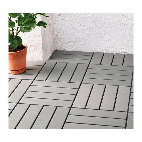 Outdoor vloerbedekking, panelen, grijs 9 Pack