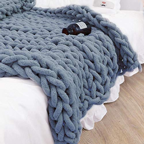 Chunky Wolle Garn DIY Handstricken Roving, Soft Bulky Arm Stricken Dicke Wolle zum Häkeln, Strickdecke Decke Garn für Riese Klobig Stricken Werfen Sofa Decke