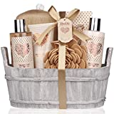Spa Gift Basket – Bath and Body Set with Vanilla...