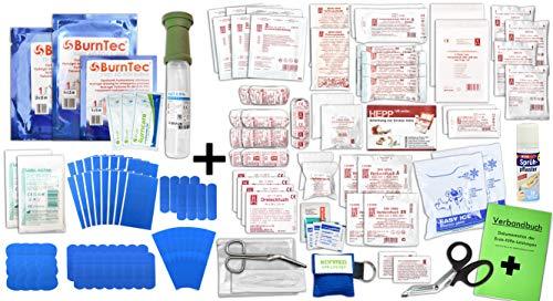 Erste Hilfe FÜLLUNG Gastro für Betriebe DIN/EN 13169 Plus 3 INKL. Augenspülung + Brandgel + detektierbare Pflaster + Hydrogelverbände + SPRÜHPFLASTER