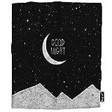 Mugod Night Time Sky Throw Blanket Moon Star Mountain Good Night Moonlight Sweet Sleep Soft Cozy Fuzzy Warm Flannel Blankets Decorative for Baby Toddler Swaddle Dog Cat 30X40 Inch