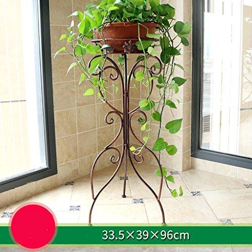 balcon voyantes Support de fleur d'intérieur de fer forgé, support de fleur de balcon, support de pot de fleur décoratif de plancher de salon, étagère Plantes d'extérieur Présentoir ( Couleur : A )