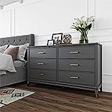 Westerleigh 6 Drawer Dresser, Graphite Gray - Graphite Grey