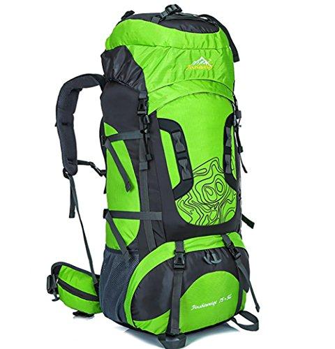 Nouveau sac d'alpinisme extérieur professionnel voyage cadre extérieur imperméable de sac à dos du sac à dos grande capacité , light green