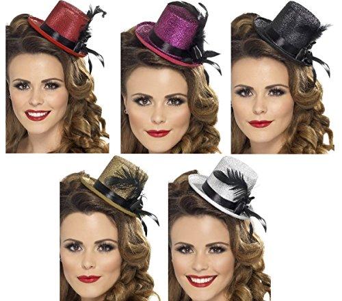 Smiffys Kostüm Zubehör Mini Zylinder Burlesque Hut Karneval Fasching schwarz