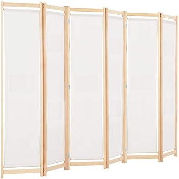 Nishore Biombo Divisor Plegable 6 Paneles de Tela Separador de Ambientes Plegable, Plegar Fácilmente, Divisor de Habitaciones, Crema 240 x 170 x 4 cm: Amazon.es: Hogar