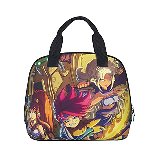 Chrono Trigger Insulated Lunch Box Bag Leakproof Reusable Lunchbox,Girls Outdoors Portable Bento Box Thermal Bag for Office Work,Picnic,Hiking,Beach Organizer