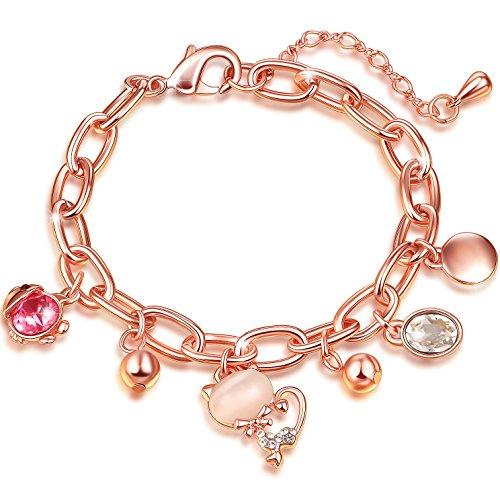 SONGPANNA Braccialetto Donna Bracciale in ceramica placcata oro rosa bracciale semplice Braccialetti mao