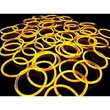 《オレンジ(その他9色あり)》 ルミカ社製 サイリウムブレス 単色50本セット サイリュームライトで光るブレスレット ダンスやフェス コンサートにも