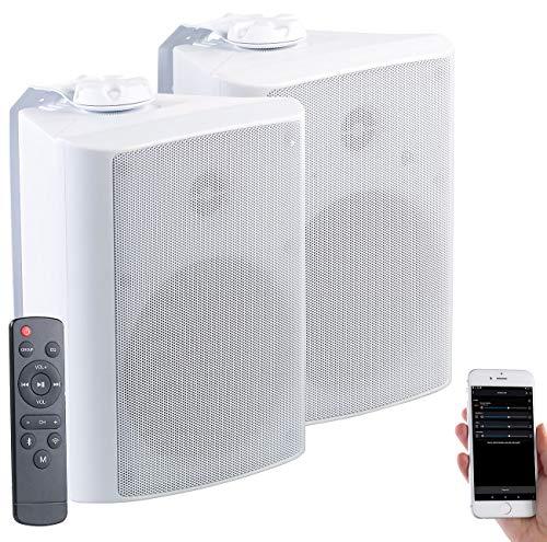 auvisio Aussenlautsprecher: Aktiv-Multiroom-Stereo-Außen-Lautsprecher, WLAN, Bluetooth, 120W, IP55 (WLAN Lautsprecher Outdoor)