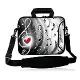 icolor 12' 13' Laptop Shoulder Bag Case Universal Netbook Messenger Cover Sleeve Carrying Holder w/strap Compatible 12.5'~13.3 inch Notbook Computer Tablet-red heart