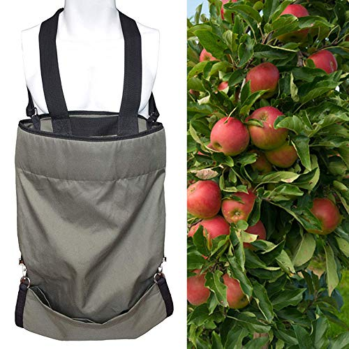 Xueliee Tablier de cueillette de fruits d'extérieur durable et imperméable Oxford Sac de rangement de récolte de légumes