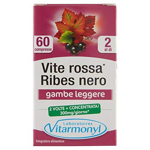 VITE ROSSA RIBES NERO Vitarmonyl  Integratore 60 compresse  Gambe leggere  Formula concentrata  Registrato Ministero Salute Italiano