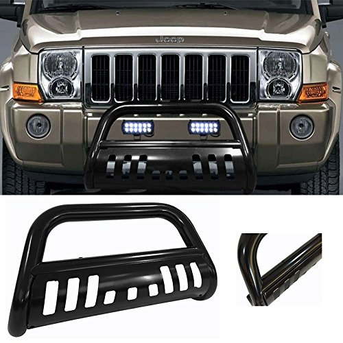 U-DRIVE 3' inch Carbon Steel Black Bull Bar Front Bumper Grill Guard only fit for 2005-2007 Grand Cherokee