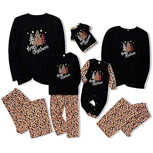Conjunto de pijamas de Natal combinando para a família com estampa de leopardo, roupa de dormir para bebês, crianças, mãe, pai, animal de estimação, Leopardo, Pet Dog Small