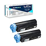 LCL Compatible Toner Cartridge Replacement for OKI B411 B431 44574701 4000 Pages B411D B411DN B431D B431DN MB491 MB461 MB471 MB471W (2-Pack Black)
