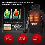 CONQUECO Herren Beheizte Jacken Wasserdicht Winddicht warm Softshell Winterjacke mit Akku und Ladegerät zum Outdoor Arbeiten - 5
