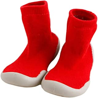 Cotton Thick Terry Cloth Middle Tube Xiang Ru Newborn Toddler Baby Anti-slip Slipper Floor Socks