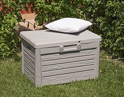 Toomax Art. 158 Compact Box Florida Malle de Rangement Résine Gris 73 x 50,5 x 46,5 cm