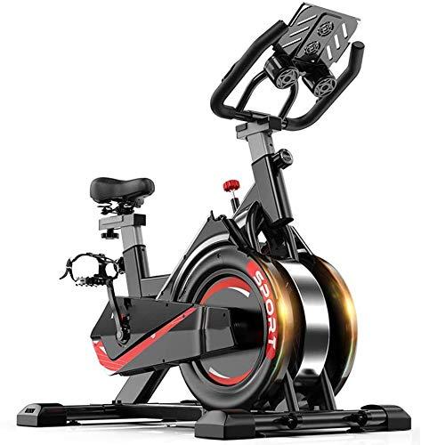 ZOUSHUAIDEDIAN Indoor Spinning Ejercicio Ciclo de la Bici Bicicleta Fija, tasa Ajustable Pie Equipo de la Aptitud for el Entrenamiento Cardio Profesional Interiores Cardio Entrenamiento del Ejercicio