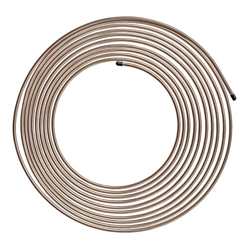 4LIFETIMELINES Copper-Nickel Brake Line Tubing Coil - 3/8 Inch, 25 Feet