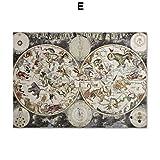 XWArtpic Vintage Zodiac Constellation Map Wandkunst Leinwand Malerei Nordic Poster Und Drucke Wandbilder Für Wohnzimmer Salon Decor E 40 * 50 cm