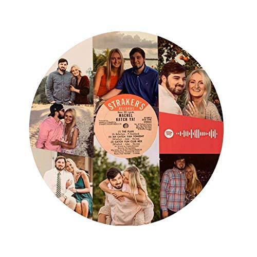 MILsEnse Disco de Vinilo Personalizado Foto Personalizada Código de Spotify Música Letras...