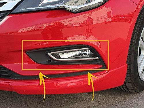 Embellecedor de luz antiniebla para Opel Astra K 2015 UP Estate/Hatchback de 5 puertas, acero inoxidable, cromado, 2 unidades