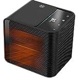 HehiFRlark - Calefactor de aire eléctrico (2000 W, ventilador caliente, potente y rápido de calefacción, radiador de cocina