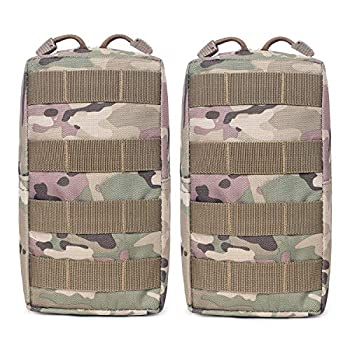 Tacticool 2 Pack Molle Pouches - Tactical Compact Water-Resistant EDC Pouch  2 Pack-CP