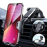 VANMASS Handyhalterung Auto Hält Bombenfest 3 in 1 Autohalterung Lüftung & Saugnapf 100% Silikonschutz Handyhalter für Auto Universal Kfz Smartphone Halterung Auto für Alle Handy iPhone Samsung Huawei