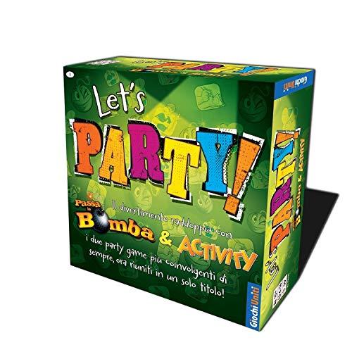 Giochi Uniti- Passa La Bomba ed Activity: Let's Party Gioco da Tavolo, Multicolore, GU659