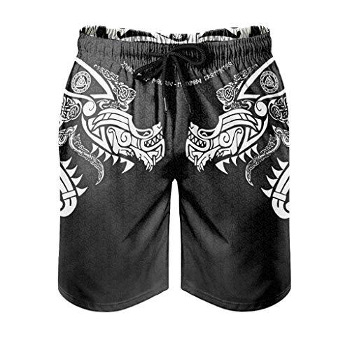 Pantalones de playa para hombre, ligeros, con bolsillos, para senderismo blanco S