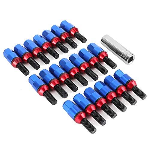 Socobeta Cubierta de aluminio de los pernos de la rueda de aluminio para el reemplazo de las piezas de automóvil (azul)