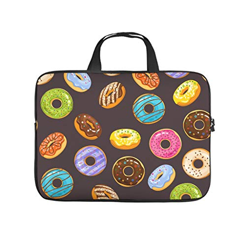 Colourful Doughnut Cake Printed Laptop Bag Protective Case Soft Neoprene Laptop Sleeve Bag Notebook Bag Bag for Employees Friends