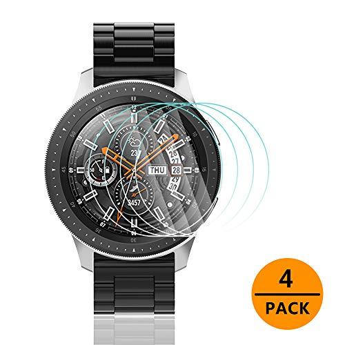 Gaishi Protector de Pantalla Compatible con Galaxy Watch (46 mm), Cristal Templado Resistente a arañazos, HD Clear, Anti-Bubble