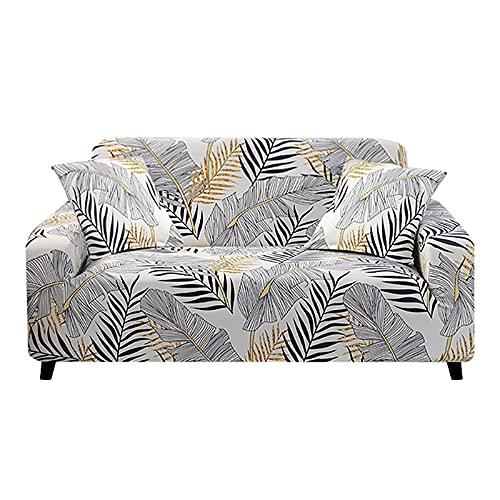 WXQY Funda de sofá con Estampado de Colores geométricos Funda elástica Funda de sofá Funda de sofá Funda para Muebles Toalla Todo Incluido Funda de sofá para sofá A2 4 plazas