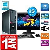 Fujitsu PC Esprimo E720 E85+ SFF Core I5-4570 8gb Scheibe 1 tg Wifi W7 Bildschirm 27'
