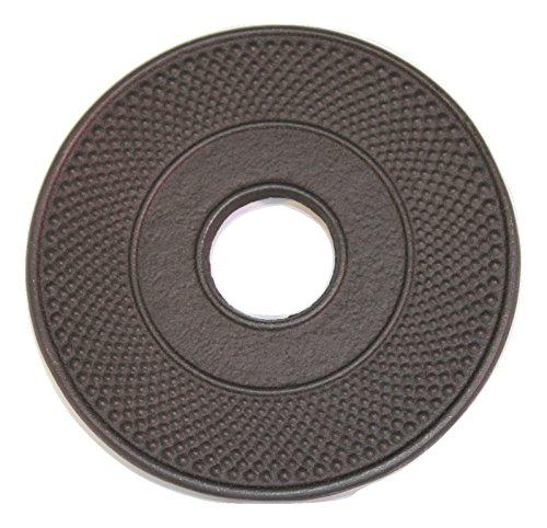 Gusseisen Untersetzer Iwachu Arare Teekanne schwarz 14cm - Japan
