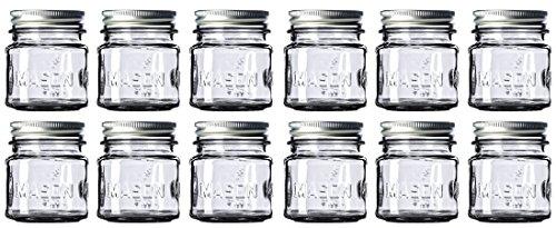 8 oz Mason Jars with 1 piece lids (12-Count) Food-Grade Safe, Versatile